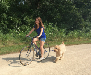 Riding A Bike With A Dog